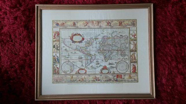 Quadro com mapa Mundial