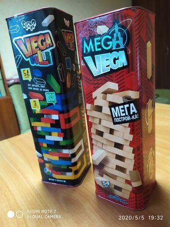 Башня, настольная 2в! большая VEGA, Дженга, деревянный конструктор
