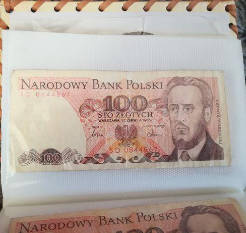 Stary banknot Polski, 100 złotych