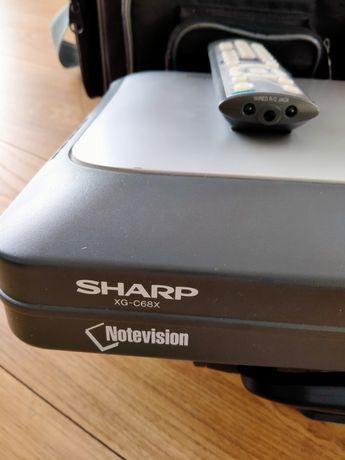 Rzutnik projektor Sharp xg-c68x kompletny zestaw