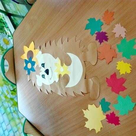 Dekoracje jesienne na okna lub gazetkę w przedszkolu