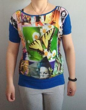 Продам турецкую женскую футболку летучая мышь р.42