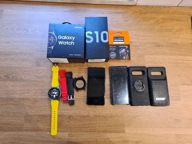 SAMSUNG GALAXY S10 + Galaxy Watch _46mm + Dodatki