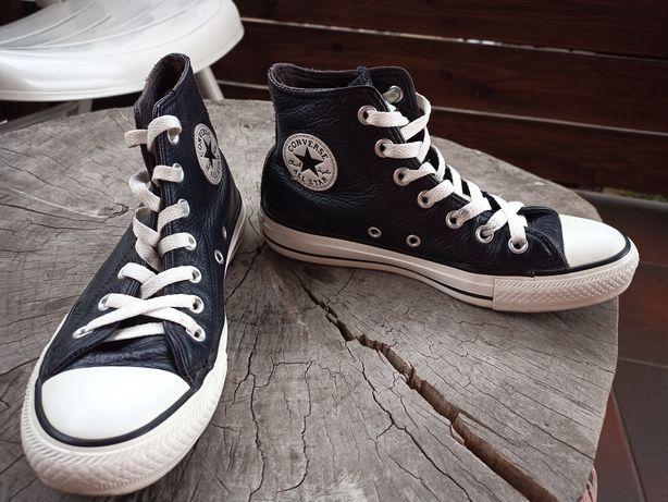 Converse skóra czarna 36,5