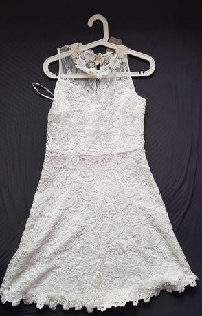Sprzedam białą sukienkę r.38, Orsay
