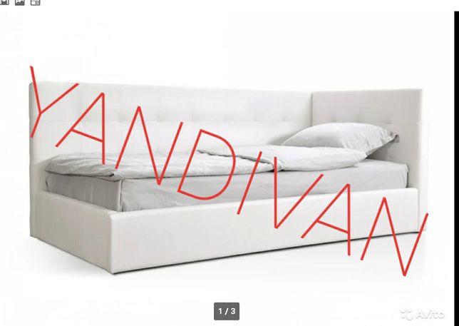 Детская (Взрослая) Односпальная Кровать Камила.С 2 мя спинками.Матрас!