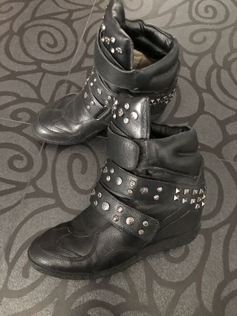 Утепленные сникерсы кроссовки ботинки
