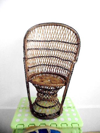 Cadeira vintage decorativa decor peacok chair palhinha verga