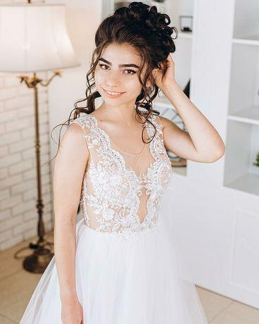 Эксклюзивное свадебное платье ручной роботы Весільна сукня