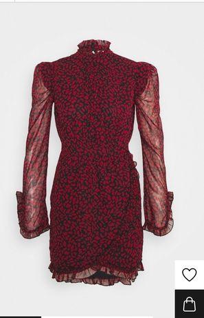 Sukienka Topshop rozm. S 36 czerwona panterka