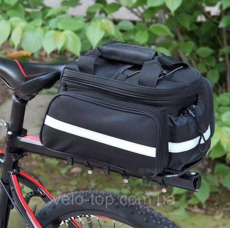 Велосумка раскладная Трансформер,велобаул,сумка на багажник велосипеда