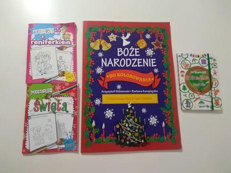 Boże Narodzenie NOWE kolorowanki zadania do kolorowania na święta