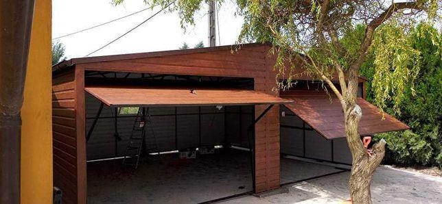 Garaże blaszaki drewnopodobne 3x5 6x6 kojce