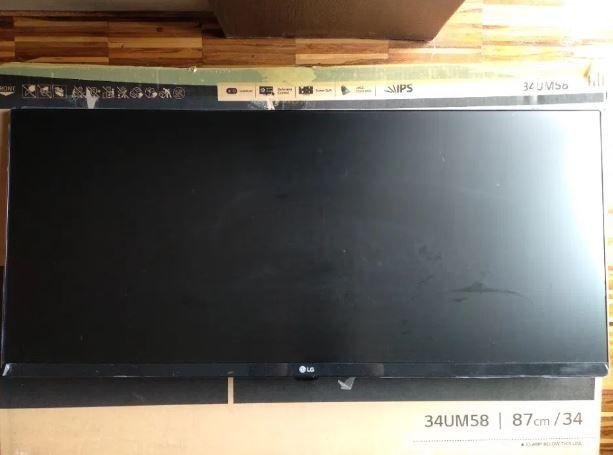 "Monitor LG 34 cale ""34UM58"" Czarny"