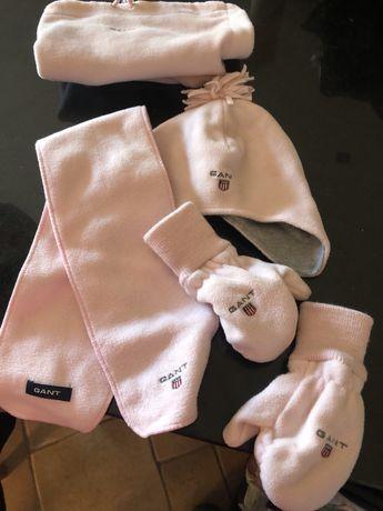 Conjunto gant original menina gorro, luca, cachecol e bolsa