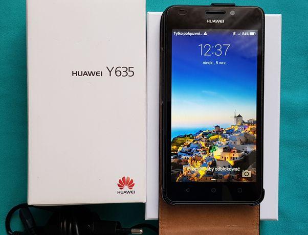 Telefon smartfon Y635 Huawei +etui skórzane i ładowarka. Jak nowy