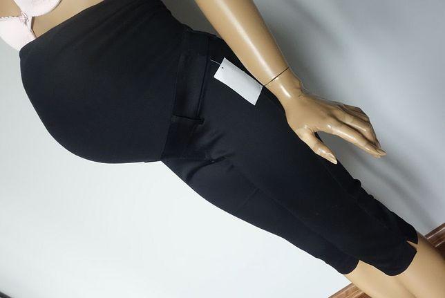 Nowe H&M Mama spodnie 36/S krótkie spodenki RYBACZKI ciążowe elegancki