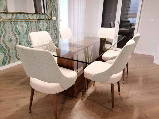Conjunto Sala : Mesa + Cadeiras + Aparador + Movel tv