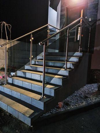 Balustrady balkonowe, schodowe, poręcze nierdzewne
