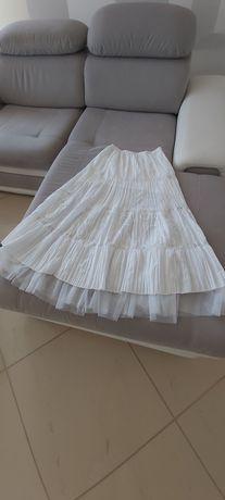Spodnica długa biała