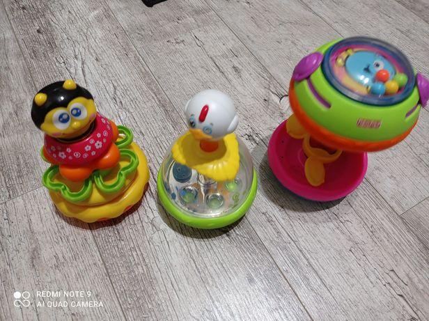 Zestaw zabawek piramida , wałek do raczkowania i kaczka