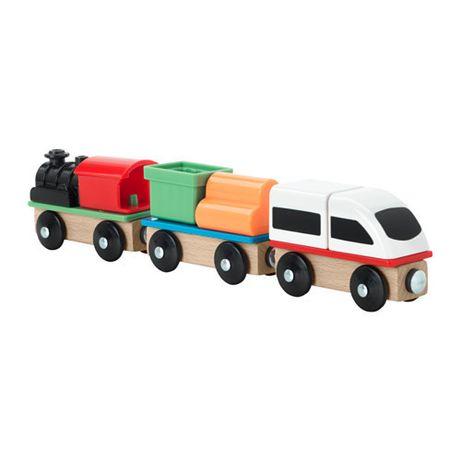 Разноцветный поезд из 3-х вагонов IKEA. Чтобы вместе было веселее!