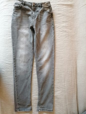 Szare jeansy next r. 158