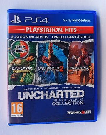 Uncharted Collection (3 Jogos) - PS4