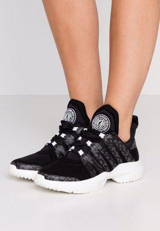 Czarne sneakersy DKNY 36 buty trampki monogram