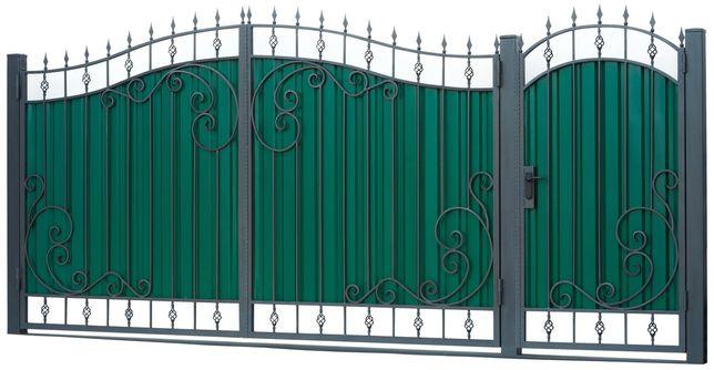 Ворота распашные калитка