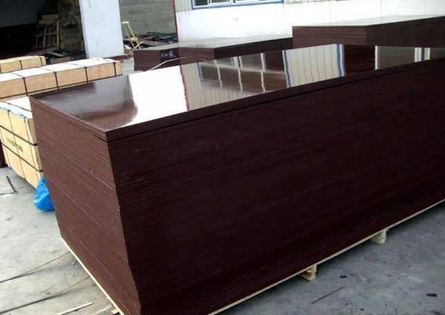 Фанера ламинированная влагостойкая 6-40мм для опалубки, для транспорта