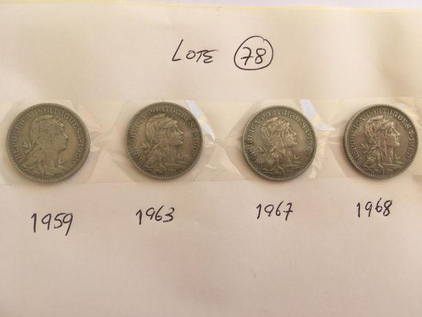Moedas $50 Centavos 1959, 1963, 1967 e 1968.