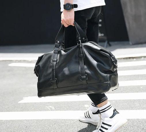 Стильная мужская городская сумка для спорта зала поездок экокожа