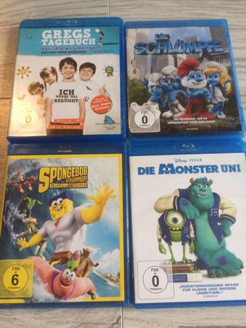 Filmy Blu-ray 4 sztuki