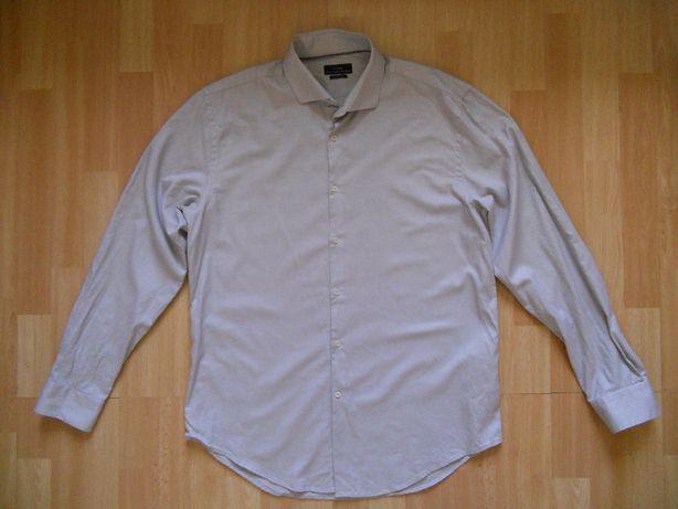 koszula męska ZARA, wizytowa XL, w klatce 57 cm, stan idealny, kremowa