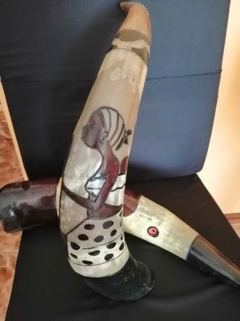 Cornos de boi pintados à mão/decoração
