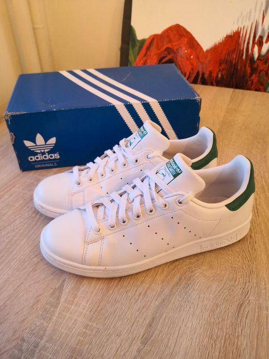 Adidas Stan Smith białe zielone adidasy męskie r 41 3/4 26cm uniseks Koszalin - image 1