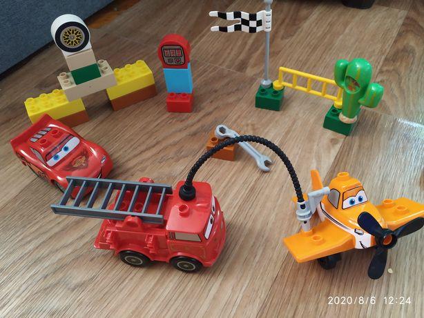 Конструктор аналог Лего дупло, тачки, летачки, молния Макквин