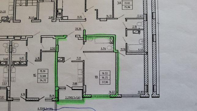 Продам 1-ную квартиру в новострое Цветной Бульвар г.Черноморск