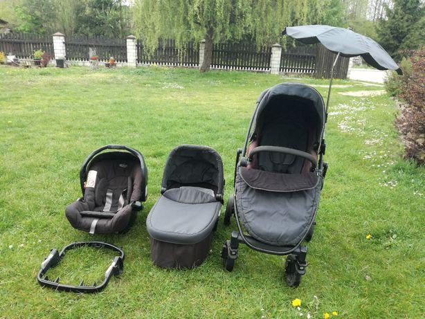 Wózek dziecięcy Graco 4w1 (nosidełko, isofix, spacerówka, gondola)