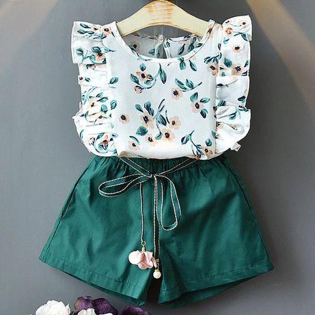 Шорти та футболка на дівчинку, літній костюм для дівчинки, рр.86-140