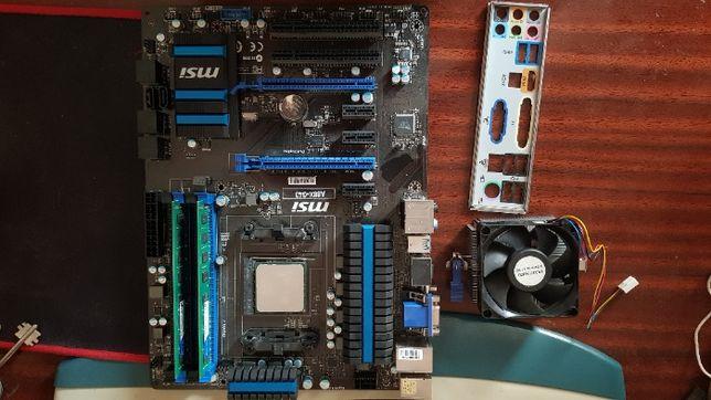 Комплект MSI A88X-G43 + 860K + 16GB DDR3 1333 + охлаждение