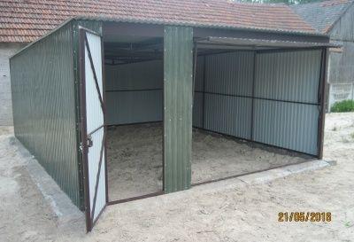 Garaż blaszany, blacha ocynkowana 3x5m blaszak różne na wymiar