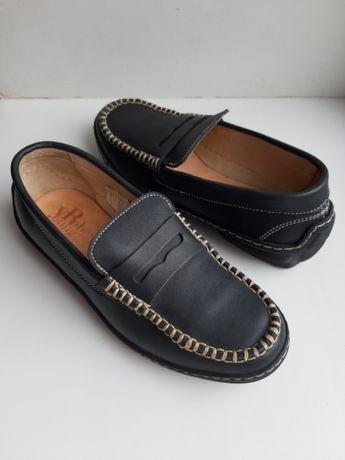 Туфли кожа Италия р.33 ст.21см лоферы мокасины