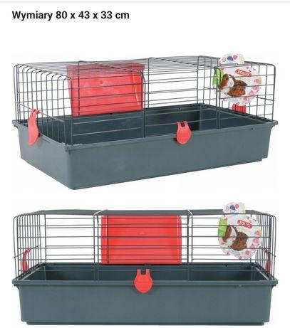 Nowa klatka z paśnikiem dla świnki morskiej lub królika 80x43x33