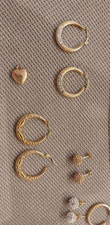 Złoto próby 375 kolczyki,łancuszki,piercionki,bransoletka