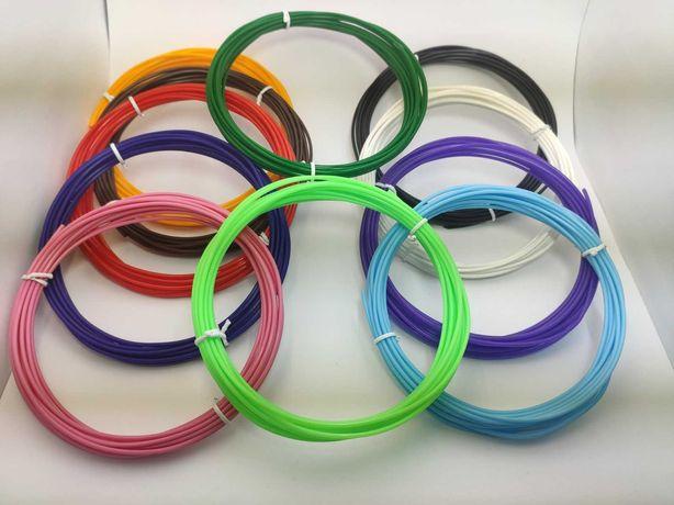 PLA пластик 16 кольорів по 5 м./PLA пластик 16 цветов по 5 м.