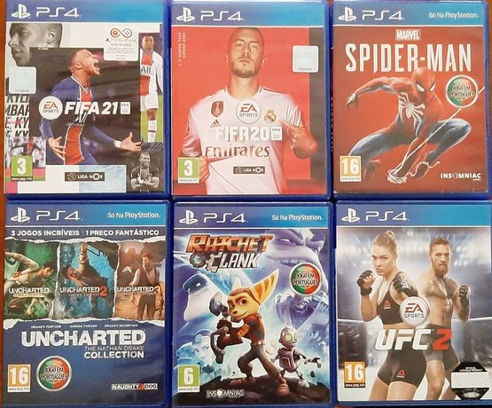 Jogos como novos para PS4