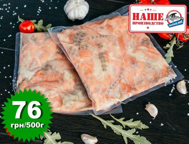 Обрезь спинки лосося (семги) 500г