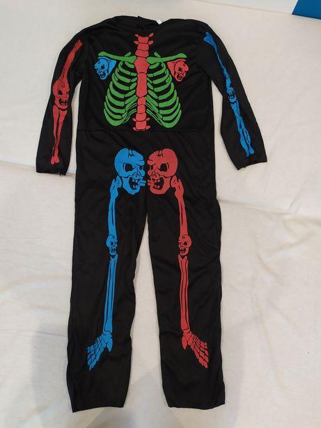 Karnawał kostium/strój szkielet 128, 7 lat
